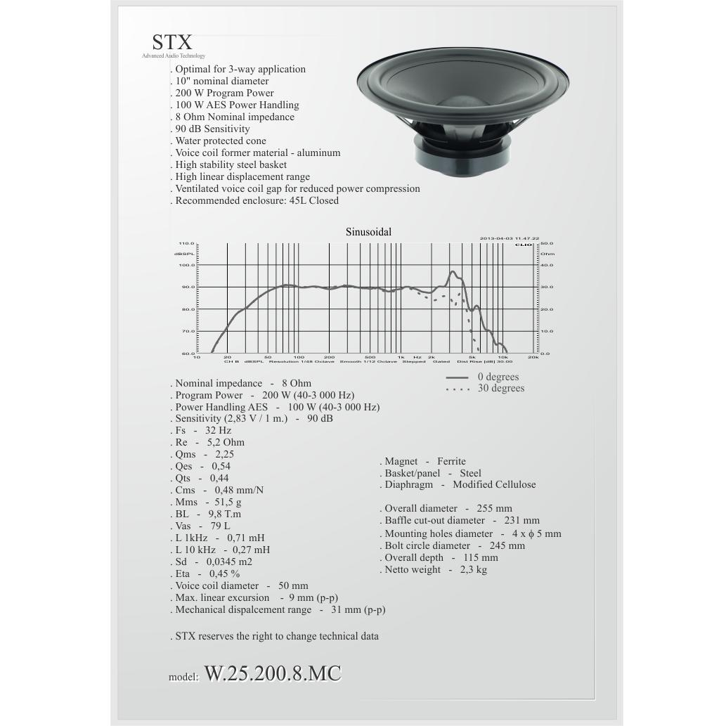 GOV STX W-25-200-8-MC Говорители STX W-25-200-8-MC