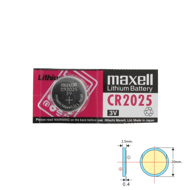 BAT CR2025 MAXELL Батерия литиева 3V CR2025 MAXEL 1бр.